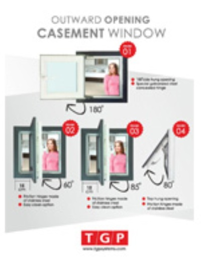 TGP Outward Opening Casement Window